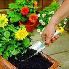 WOLF GARTEN Narrow Flower Trowel used on flower beds