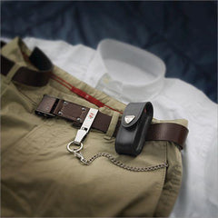 In use on belt profile of VICTORINOX Brown Leather Belt Pouch - Large (05691)