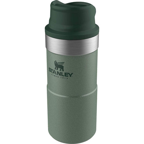 STANLEY | Classic 350ml One Hand Travel Trigger Mug - Hammertone Green