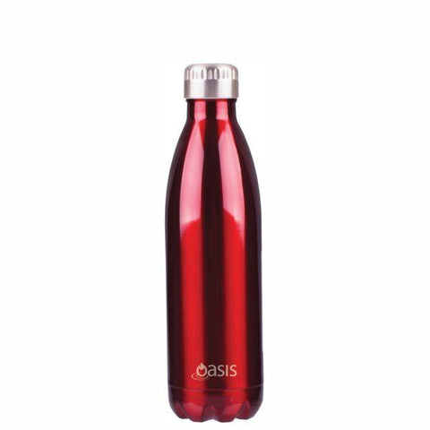 OASIS Water Bottle 500ml Stainless Insulated- Red