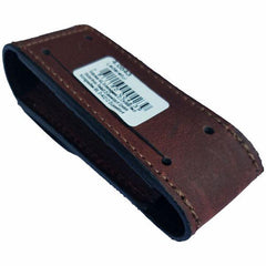 Back Profile of VICTORINOX Brown Leather Belt Pouch - Large (05691)