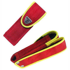 Front and back profile of VICTORINOX Red Rescue Tool Nylon Replacement Sheath