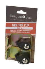 BURGON & BALL | Wide Tool Rack Clips - 2 Pack