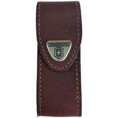 Front Profile of VICTORINOX Brown Leather Belt Pouch - Large (05691)