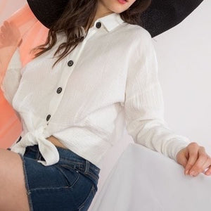 Mimosa morning front tie top