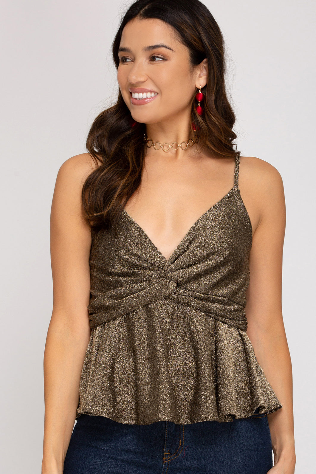 Holiday Twisted Cami Top