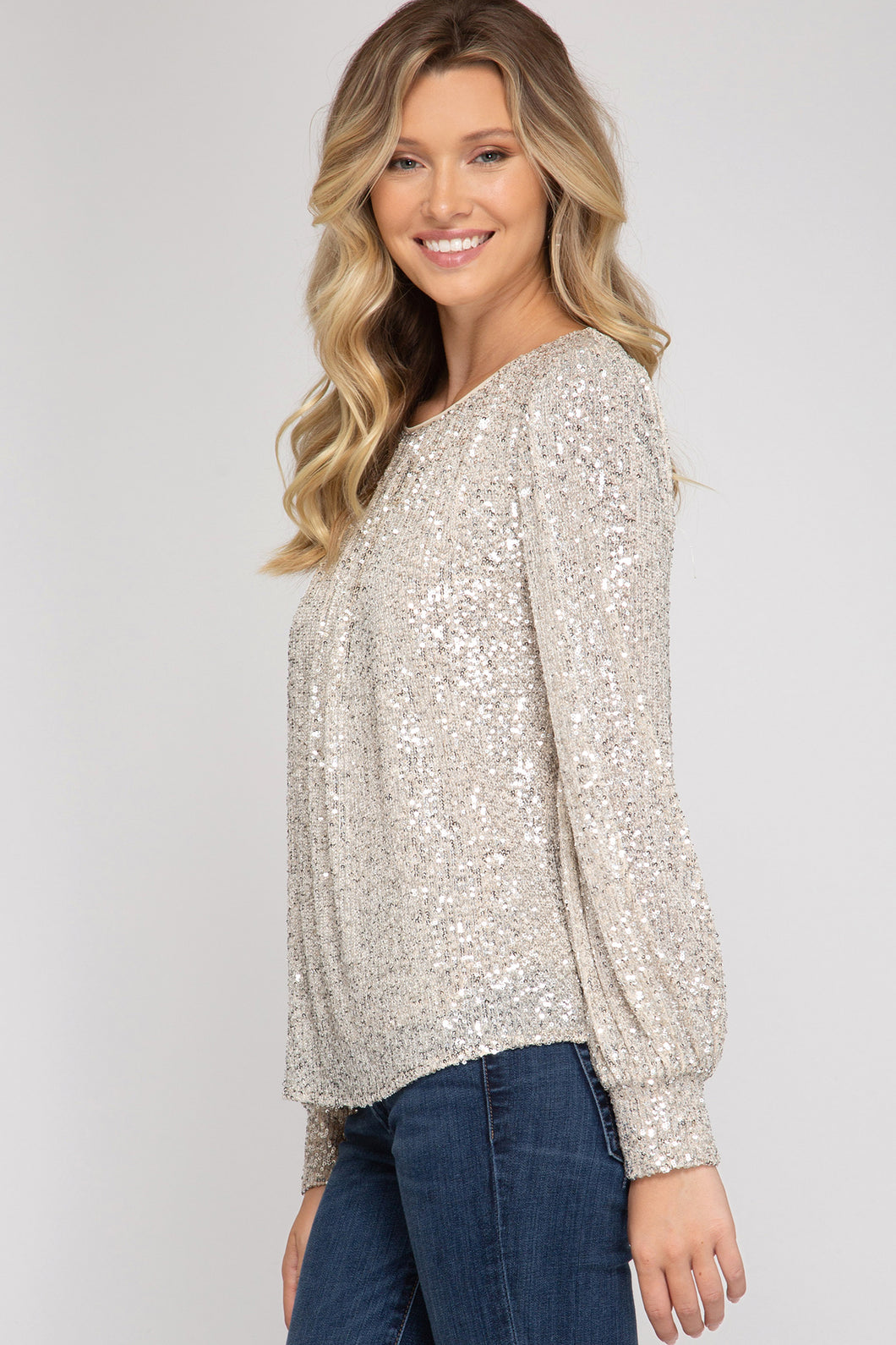 Holiday Sequin Top