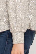 Load image into Gallery viewer, Holiday Sequin Top