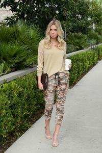 Distressed Camouflage Jogger