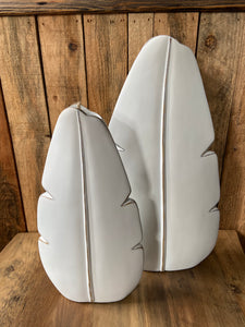 Large White Leaf Vase
