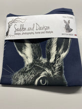 Load image into Gallery viewer, Hare Tea Towel - Blackberry