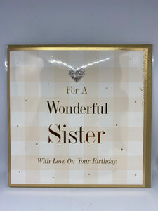 For a Wonderful Sister With Love on Your Birthday