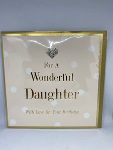 For A Wonderful Daughter With Love On Your Birthday