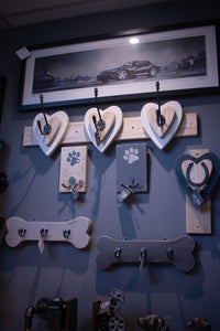 Heart Double  Coat Hook