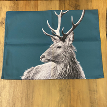 Load image into Gallery viewer, Stag Tea Towel - Teal