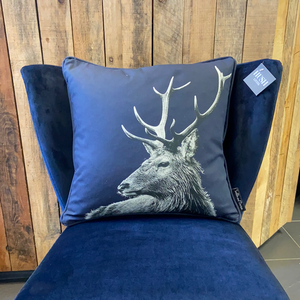 Stag Cushion - Blackberry