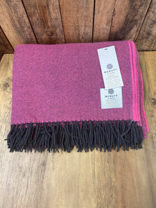 Lambs Wool Throw - Paris Pink