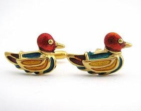 Enamel Duck Cufflinks