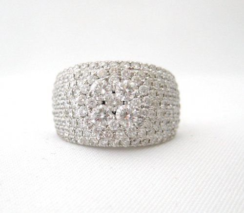 Wide Pave Diamond Band