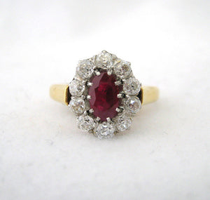 French Oval Ruby Ring