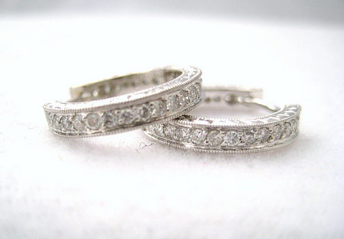 Front to Back Diamond Hoop Earrings