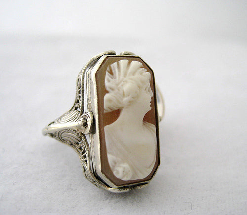 Cameo to Onyx Flip Ring