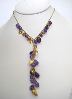 Faceted Amethyst Neckpiece