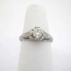 .50 ct. Center Diamond Ring with Intricate Detailing