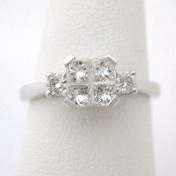 Invisible Setting Diamond Ring