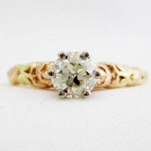 Jabel Flower Diamond Solitaire Ring