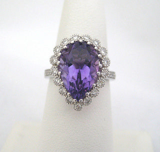 Tear Drop Amethyst Ring