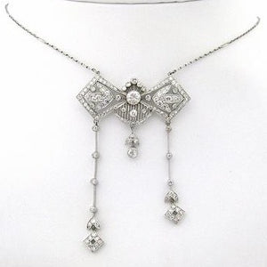 Edwardian Diamond and Platinum Negligee Neckpiece