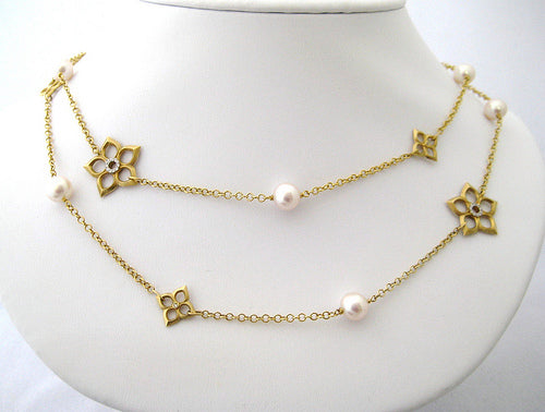 Pearl, Diamond, and Gold Neckpiece
