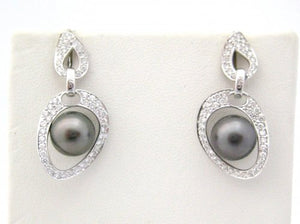 Suspended Tahitian 29 mm Pearl Earrings