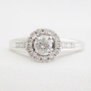 Diamond Center Halo Style Ring