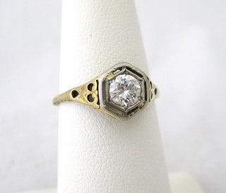 Sweet Vintage .36 carat Diamond Ring