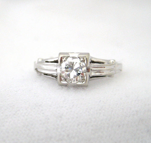 Illusion Head Diamond Engagement Ring