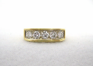 Victorian 5 Cushion Cut Diamond Ring