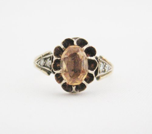 Victorian Natural Imperial Topaz Ring