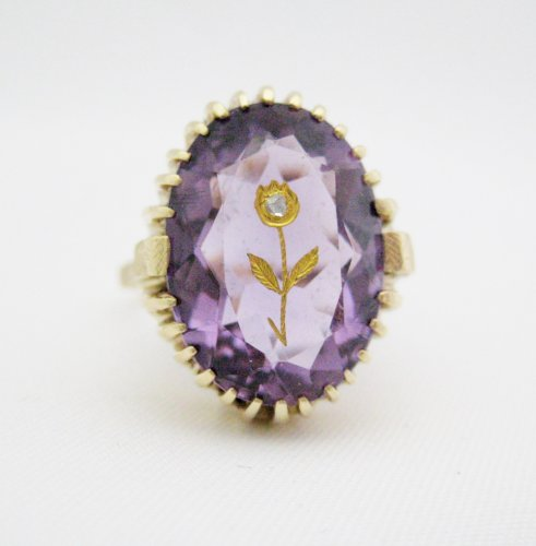 Victorian Oval Amethyst Ring