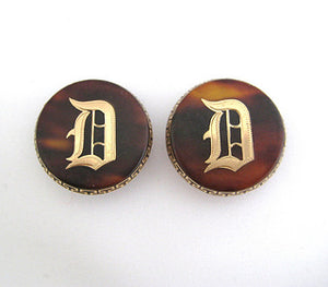 Pique Cufflinks with Initial D