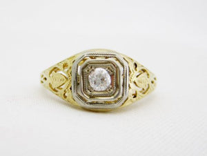 Vintage Diamond and Filigree Ring