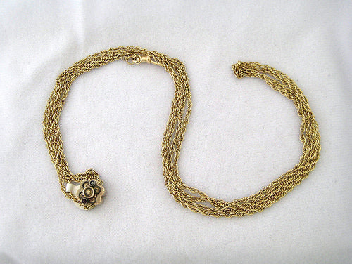 Vintage Watch Chain with Decorative Fob