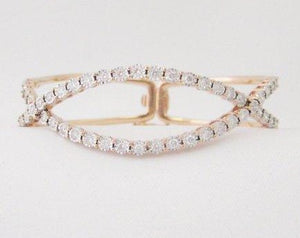 Double Curved Diamond Bangle
