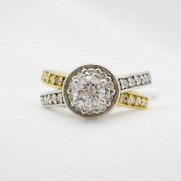 .38 Carat Diamond Center Halo Ring
