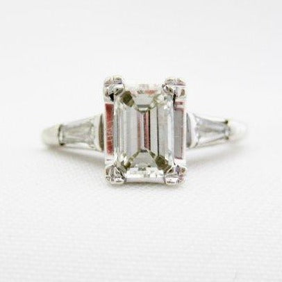 .78 Carat Emerald Cut Diamond Engagement Ring