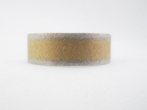 Two Tone Brushed Gold Mens Band