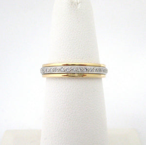 Eternity Band with Center Channel of Small Diamonds