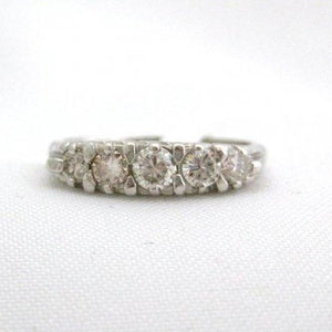 1940's Platinum and 5 Diamond Band
