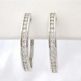 2 ct. tw. Diamond Hoops